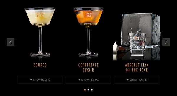 Cocktails mit Absolut Elyx