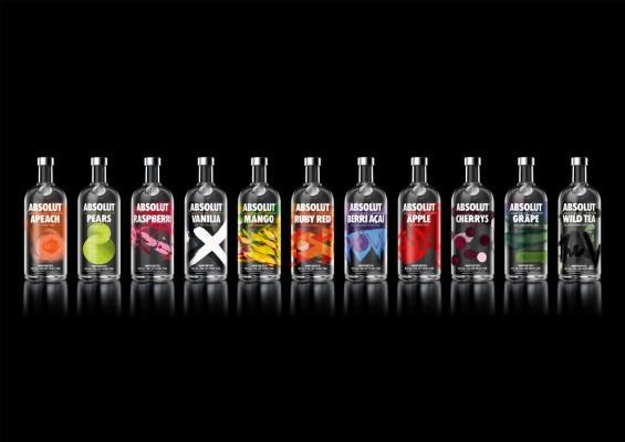 Absolut mit neuem Look für seine Flavoured-Vodka-Range