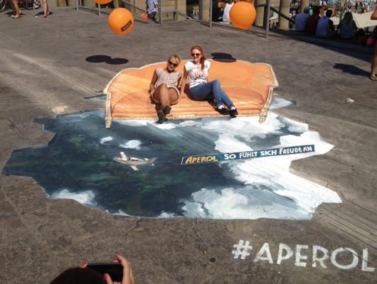 Aperol überrascht in den Straßen Stuttgarts mit Streetart