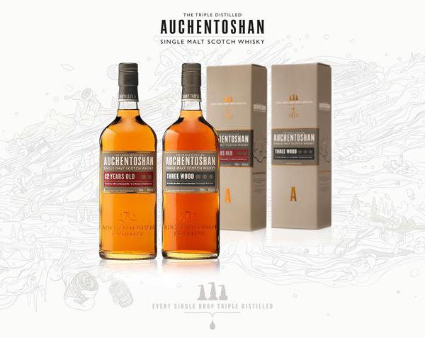 Zwei Kern-Qualitäten von Auchentoshan erhalten neues Design