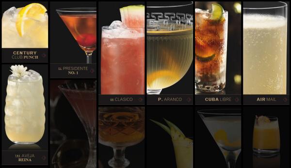 Cocktails mit Bacardi Carta Oro