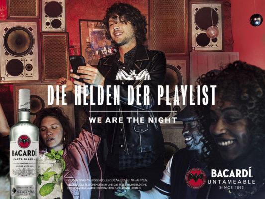 Bacardi startet TV-Spot 'We Are The Night'