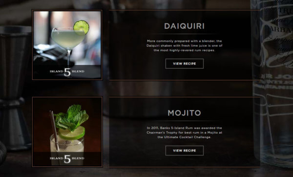 Cocktails mit Banks 5 Island Rum