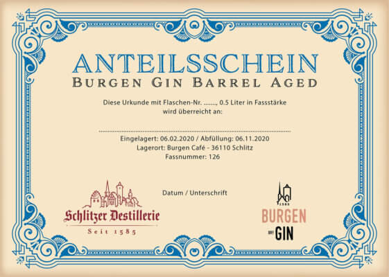 Burgen Herbal Gin Barrel Aged Edition