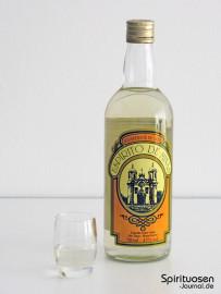 Espirito de Minas Glas und Flasche