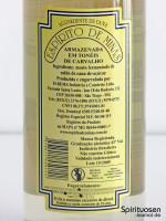 Espirito de Minas Rückseite Etikett