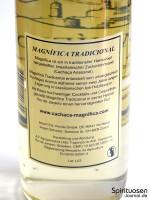 Magnifica Tradicional Rückseite Etikett