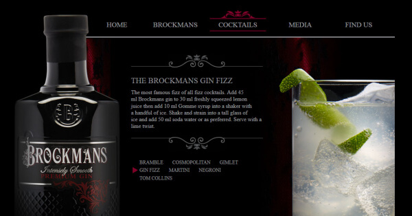 Cocktails mit Brockmans Gin