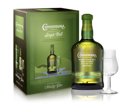 Connemara Original in Geschenkset mit Nosing-Glas zum Fest
