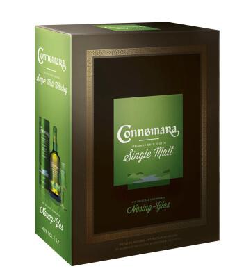 Connemara Original mit gratis Nosing-Glas in Geschenkset