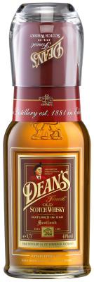 Dean's Finest Scotch Whisky zeigt sich mit Tumbler-Glas im On-Pack