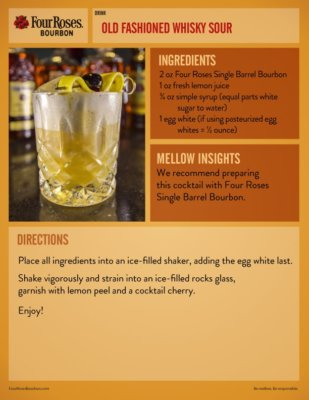 Four Roses Whiskey Sour