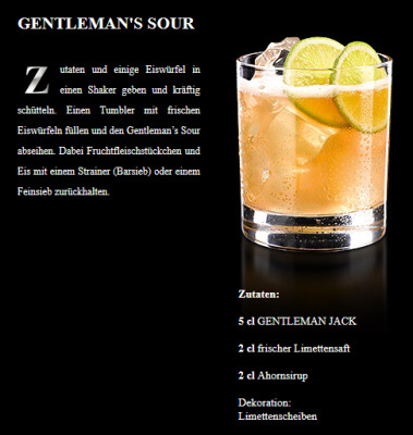 'Whiskey Sour' mit Gentleman Jack