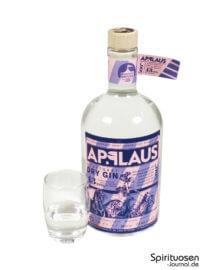 Applaus Dry Gin Glas und Flasche