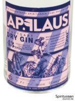 Applaus Dry Gin Vorderseite Etikett