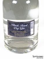 Black Forest Dry Gin Rückseite Etikett