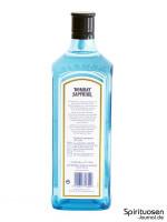 Bombay Sapphire London Dry Gin (47%) Rückseite