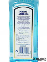 Bombay Sapphire London Dry Gin Rückseite Etikett