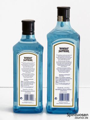Bombay Sapphire Gin mit 40 Prozent und 47 Prozent Alkohol im Vergleich