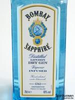 Bombay Sapphire London Dry Gin Vorderseite Etikett