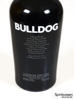 Bulldog London Dry Gin Vorderseite Etikett