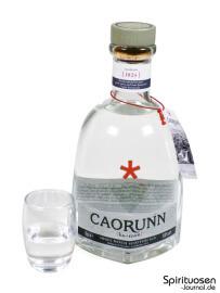 Caorunn Gin Glas und Flasche