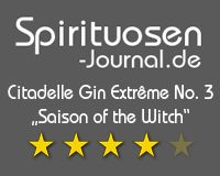 "Citadelle Gin Extrême No. 3 ""Saison of the Witch"" Wertung"