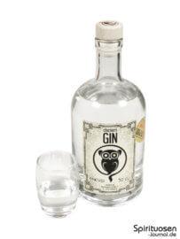 Clockers Gin Glas und Flasche