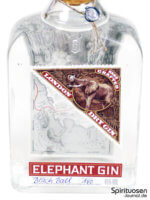 Elephant Gin Vorderseite Etikett