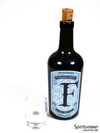 Ferdinand's Saar Dry Gin Glas und Flasche