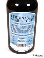 Ferdinand's Saar Dry Gin Rückseite Etikett