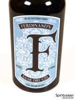 Ferdinand's Saar Dry Gin Vorderseite Etikett