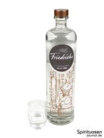 Friedrichs Dry Gin Glas und Flasche