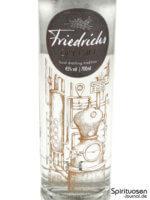 Friedrichs Dry Gin Vorderseite Etikett