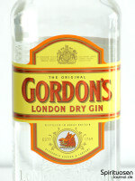Gordon's London Dry Gin Vorderseite Etikett