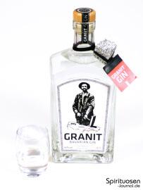 Granit Bavarian Gin Glas und Flasche