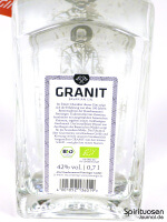 Granit Bavarian Gin Rückseite Etikett