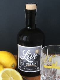 Live Dry Gin Flasche