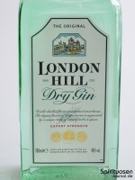 London Hill Dry Gin Vorderseite Etikett