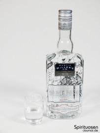 Martin Miller's Westbourne Strength Dry Gin Glas und Flasche