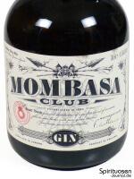Mombasa Club London Dry Gin Vorderseite Etikett