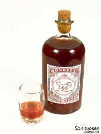 Monkey 47 Schwarzwald Sloe Gin Glas und Flasche