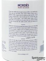 Nordés Atlantic Galician Gin Rückseite Etikett