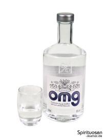 OMG - Oh MY Gin Glas und Flasche