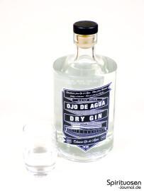Ojo de Agua Dry Gin Glas und Flasche