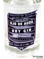 Ojo de Agua Dry Gin Vorderseite Etikett