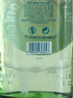 Plymouth Gin Rückseite Etikett