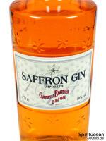 Saffron Gin Vorderseite Etikett