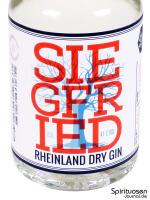 Siegfried Rheinland Dry Gin Vorderseite Etikett