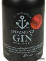 Spitzmund Gin Vorderseite Etikett